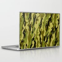camouflage Laptop & iPad Skins featuring Camouflage by Texnotropio