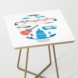 Love Letter to Austin, Texas Side Table