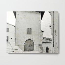 Italian street view Metal Print