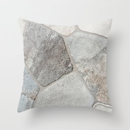 Natural Stone Wall Throw Pillow