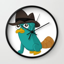 Baby Perry the Platypus Wall Clock