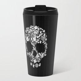 Floral Skull Travel Mug