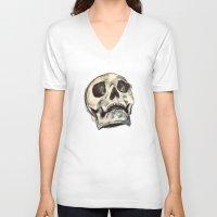 skulls V-neck T-shirts featuring Skulls by Lauren Draghetti