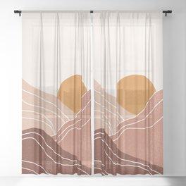 Landscape Sun  Sheer Curtain