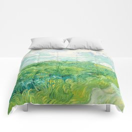 Green Wheat Fields - Auvers, by Vincent van Gogh Comforters