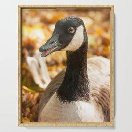 Autumn Goose Serving Tray