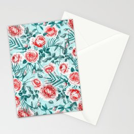 Summer Floral Pattern III Stationery Cards