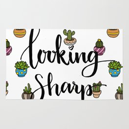 Looking Sharp Quote Rug