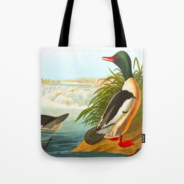 Goosander or Common Merganser Tote Bag