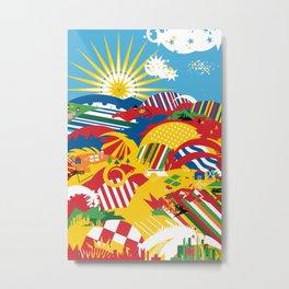 Flagscapes: World Farmscape Metal Print