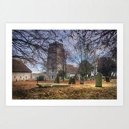 St Martin Aldington Art Print