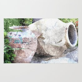 Urns watercolour Rug