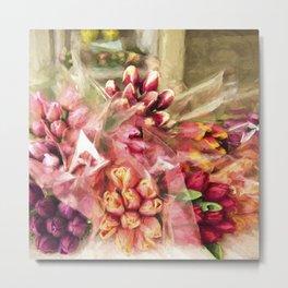 Spoken Without Sound - Flower Art Metal Print