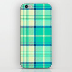 Turquoise Tartan iPhone & iPod Skin