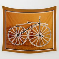 bike Wall Tapestries featuring Bike by CrismanArt