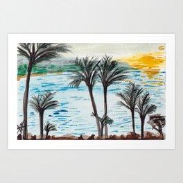Turtle Bay Sunset 1 Art Print