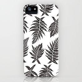Inked Ferns – Black Palette iPhone Case