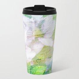 Vintage Soft Pastel Floral Travel Mug