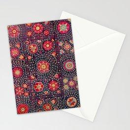 Karshi  Suzani  Antique Uzbekistan Embroidery Print Stationery Cards