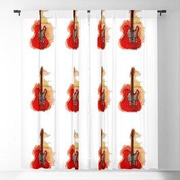 guitar pattern Blackout Curtain