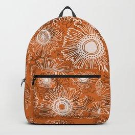 Fall flowers - orange Backpack
