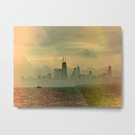 Foggy Skyline #4 Metal Print
