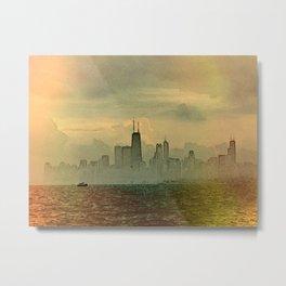 Foggy Skyline #4 Metal Print
