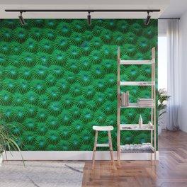 Green Curl Polyps Wall Mural