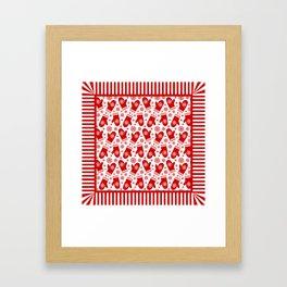 Happy Christmas Mittens Framed Art Print