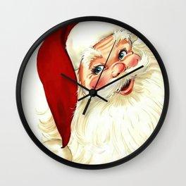 Cute laughing vintage santa Wall Clock