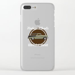 Vintage Wheels: Chevrolet Nomad Clear iPhone Case