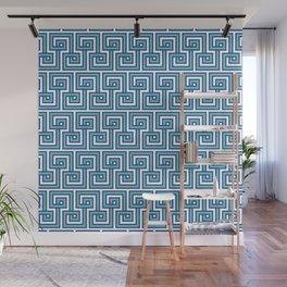 Greek Key - Turquoise Wall Mural