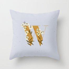 W for Wallflower Throw Pillow