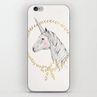 unicorn iPhone & iPod Skins featuring Unicorn by Kelli Murray