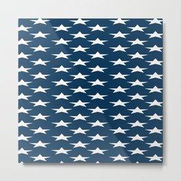 Blue Star Pattern Metal Print