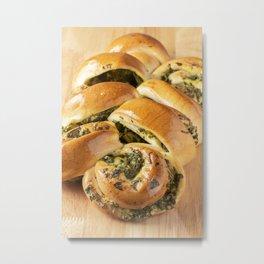 Spinach and Fetta Twist Metal Print