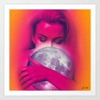 Luna Love Art Print