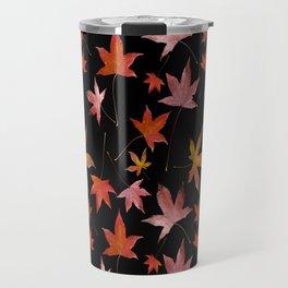 Dead Leaves over Black Travel Mug