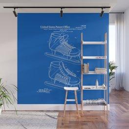 Hockey Skate Patent - Blueprint Wall Mural