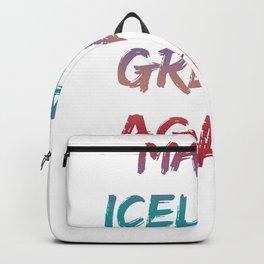 Make Iceland great again Backpack