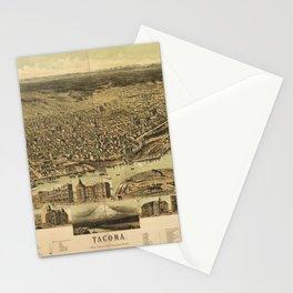 Aerial View of Tacoma, Washington (1890) Stationery Cards