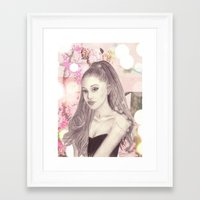 ariana grande Framed Art Prints featuring Ariana by Share_Shop
