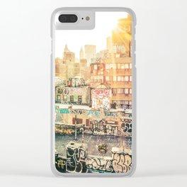 New York City Graffiti Clear iPhone Case