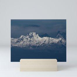 Snow Capped Mountain Range Mini Art Print