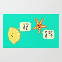 motivational Area & Throw Rugs featuring Motivational Beach! by AnishaCreations