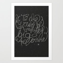 Peter Pan Quote Art Print