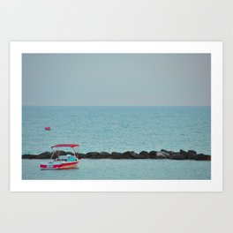 Between Sea and Sky Art Print