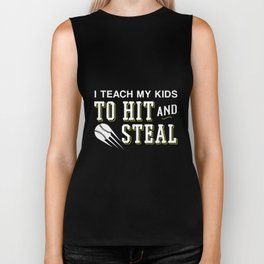 Funny Mom Dad Baseball Steal Biker Tank