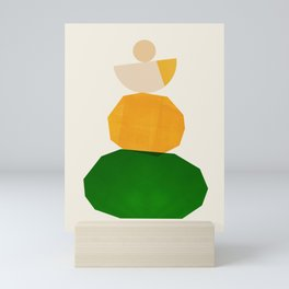 Abstraction_Balance_ROCKS_Minimalism_003 Mini Art Print