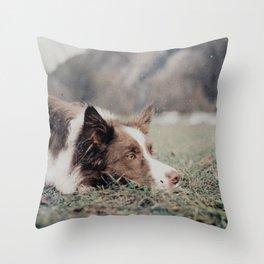 Kiva the dog Throw Pillow
